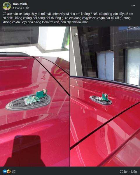 Người dùng phản ánh Toyota Rush bị gãy ăng-ten vây cá
