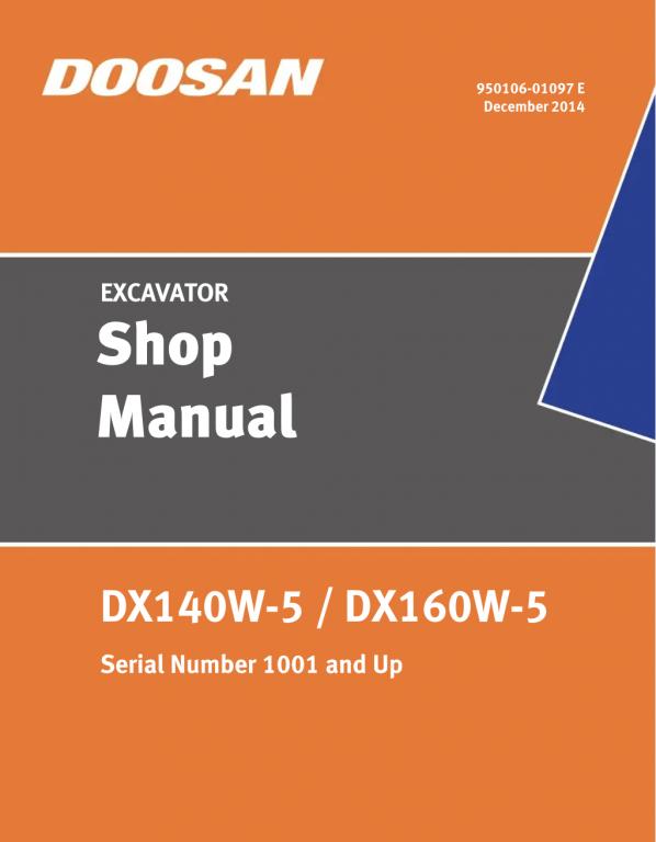 Shop Manual Doosan DX140W-5/DX160W-5